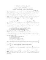 Đề thi kiểm tra chất lượng học kì II Môn: Vật lý - Mã đề 122 pps