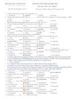 ĐỀ THI TUYỂN SINH ĐẠI HỌC 2011 Môn Thi: ANH VĂN – Khối D ĐỀ THI THAM KHẢO SỐ 2 docx
