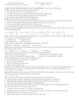 ĐỀ THAM KHẢO THI TNPT MÔN: VẬT LÝ - TRƯỜNG THPT NGUYỄN DUY HIỆU pdf