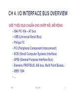 Chương 4: I/O Interface bus overview doc