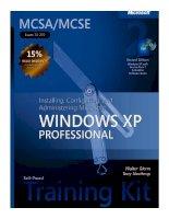 Microsoft windows xp professional exam 70 - 270 phần 1 ppsx