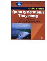 Giáo trình quản lý hệ thống thủy nông tập 2 part 1 pdf