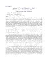 Quản lý Doanh nghiệp: CHƯƠNG 4 QUẢN TRỊ CHI PHÍ KINH DOANH TRONG DOANH NGHIỆP pptx
