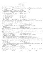 ĐẠI CƯƠNG KIM LOẠI - ĐỀ SỐ 3 MÔN HÓA : LỚP 12 doc