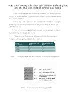 Giáo trình hướng dẫn cách tính toán tốt nhất để giảm chi phí cho việc thiết kế đường dây mạng phần 1 doc