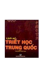 Lịch sử triết học Trung Quốc tập 2 part 1 pot