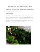 Các bước đơn giản để thiết kế khu vườn pdf