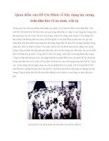 Tài liệu Tư tưởng Hồ Chí Minh: Quan điểm của Hồ Chí Minh về Xây dựng lực lượng toàn dân bảo vệ an ninh, trật tự pot