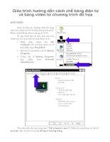 Giáo trình hướng dẫn cách chế bảng điện tử và bảng video từ chương trình đồ họa phần 1 doc