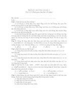 ÔN TẬP CHƯƠNG III (Đề 1) Vật lí 12 docx