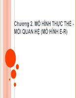 Chương 2. MÔ HÌNH THỰC THỂ MỐI QUAN HỆ (MÔ HÌNH E-R) ppsx