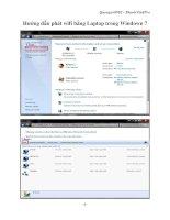 Hướng dẫn phát wifi bằng Laptop trong Windown 7 doc