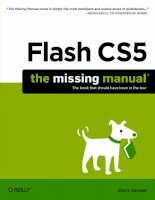 Flash CS5 THE MISSING MANUAL phần 1 pdf