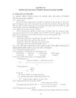 Thống kê doanh nghiệp - Phần 1 Tóm tắt lý thuyết và các bài tập cơ bản - Chương 4 ppsx