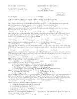 ĐỀ THI THỬ ĐẠI HỌC LẦN 2 Môn thi: Vật lí - Mã đề: 103 pdf