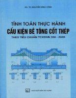 Tính toán thực hành cấu kiến bê tông theo tiêu cuẩn TCXDVN 356 2005 Tập 1 - Chương 1 pdf