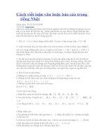 Cách viết luận văn hoặc báo cáo trong tiếng Nhật pdf