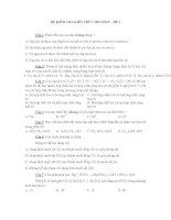 ĐỀ KIỂM TRA KIẾN THỨC HÓA HỌC - ĐỀ 3 pdf