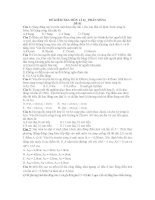ĐỀ KIỂM TRA MÔN LÍ 12_ PHẦN SÓNG ĐỀ 01 pps