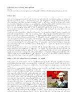 Tiểu luận môn tư tưởng Hồ Chí Minh: