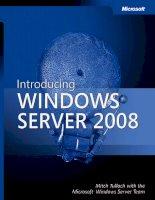 Microsoft introducing windows server 2008 Resource Kit phần 1 pps