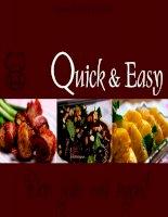 Tập hợp những món ăn và món tráng miệng đơn giản, nấu nhanh và dễ làm potx