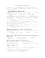 ĐỀ LUYỆN THI TRẮC NGHIỆM SỐ 1 pdf