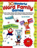 30 Wonderful Word Family Games pot