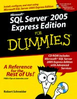 Microsoft SQL Server 2005 Express Edition for Dummies phần 1 ppt