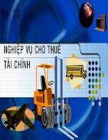 Bai 4b- Nghiep vu cho thue tai chinh ppsx
