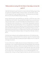 Tài liệu Tư tưởng Hồ Chí Minh: Thấm nhuần tư tưởng Hồ Chí Minh về hội nhập và đoàn kết quốctế pdf