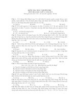 KIỂM TRA TRẮC NGHIỆM HKI MÔN HOÁ HỌC LỚP 12- BÀI SỐ 3 pps