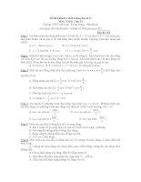 Đề thi kiểm tra chất lượng học kì II Môn: Vật lý - Mã đề 121 ppsx