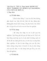 Vật lí lớp 12 - Tiết 11: Thực hành: KHẢO SÁT THỰC NGHIỆM CÁC ĐỊNH LUẬT DAO ĐỘNG CỦA CON LẮC ĐƠN (2) pps