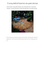 Ý tưởng thiết kế hoàn hảo cho patio nhà bạn doc