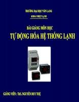 TỰ ĐỘNG HÓA HỆ THỐNG LẠNH - HVACR AUTOMATIC CONTROL pot