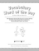 Vocabulary Word of the Day pot