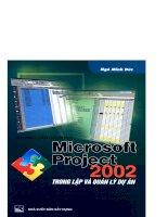 Hướng dẫn sử dụng Microsoft Project 2002 trong lập và quản lý dự án part 1 pps
