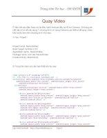 Lập trình Android: ứng dụng quay Video docx