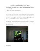Những lỗi cần tránh trong trang trí nội thất (phần 2) docx