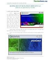 Hướng dẫn sử dụng phần mềm ENVI docx