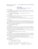 KỲ THI THỬ ĐẠI HỌC LỚP 12 THPT NĂM 2011 Môn: HOÁ HỌC pot