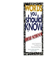 Words You Should Know In High School ppt