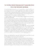 Tài liệu Tư tưởng Hồ Chí Minh: TƯ TƯỞNG NHÂN VĂN ĐẠO ĐỨC TRONG DI CHÚC CỦA CHỦ TỊCH HỒ CHÍ MINH pot