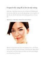8 nguyên tắc vàng để có làn da mịn màng doc