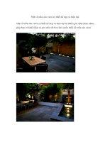 Một số mẫu sân vườn có thiết kế đẹp và hiện đại pdf