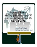 thực trạng áp dụng hê thống quản ly chất lượng iso 90012008 tại công ty tnhh giải pháp sô toàn cầu