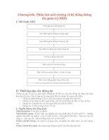 Giáo án Chiến lược kinh tế: Chương bốn: Phân tích môi trường và hệ thống thông tin quản trị (MIS) potx