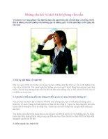 Những câu hỏi và cách trả lời phỏng vấn mẫu pot