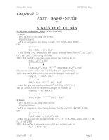 Chuyên đề 7: AXIT - BAZƠ - MUỐI pps